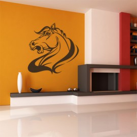 Modern fireplace ina orange living room with picture in the wall - digital artwork. The picture art on wall is a my photo.